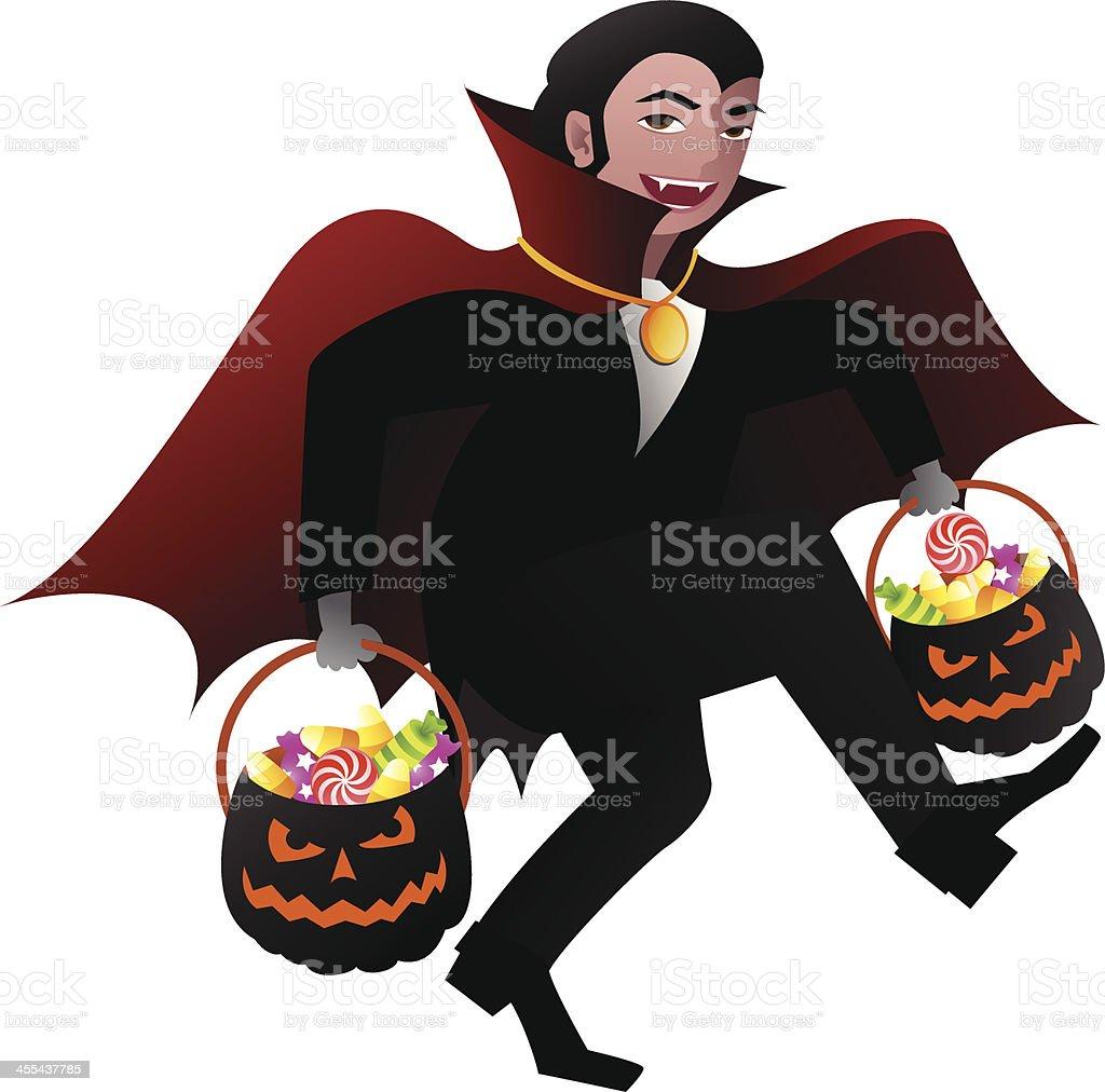 Trick Or Treater - Dracula royalty-free stock vector art