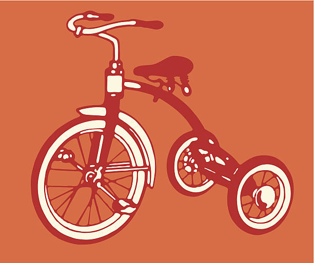 Tricycle Wheel Clip Art : Tricycle clip art vector images illustrations istock