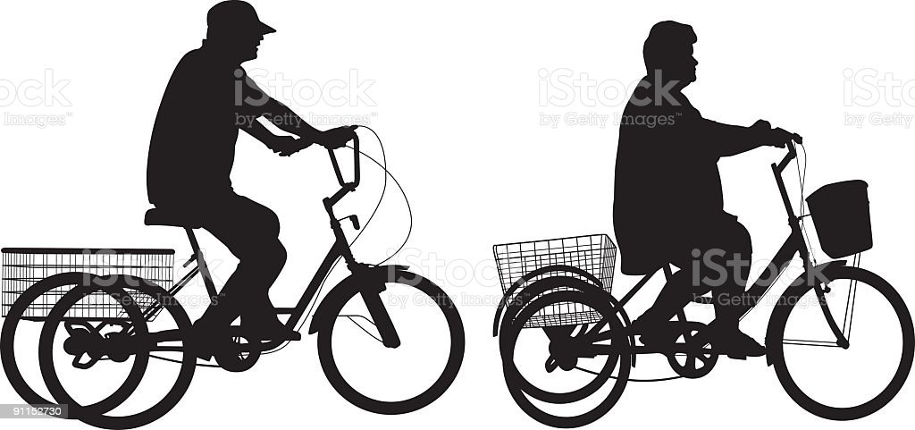 Tricycle royalty-free stock vector art