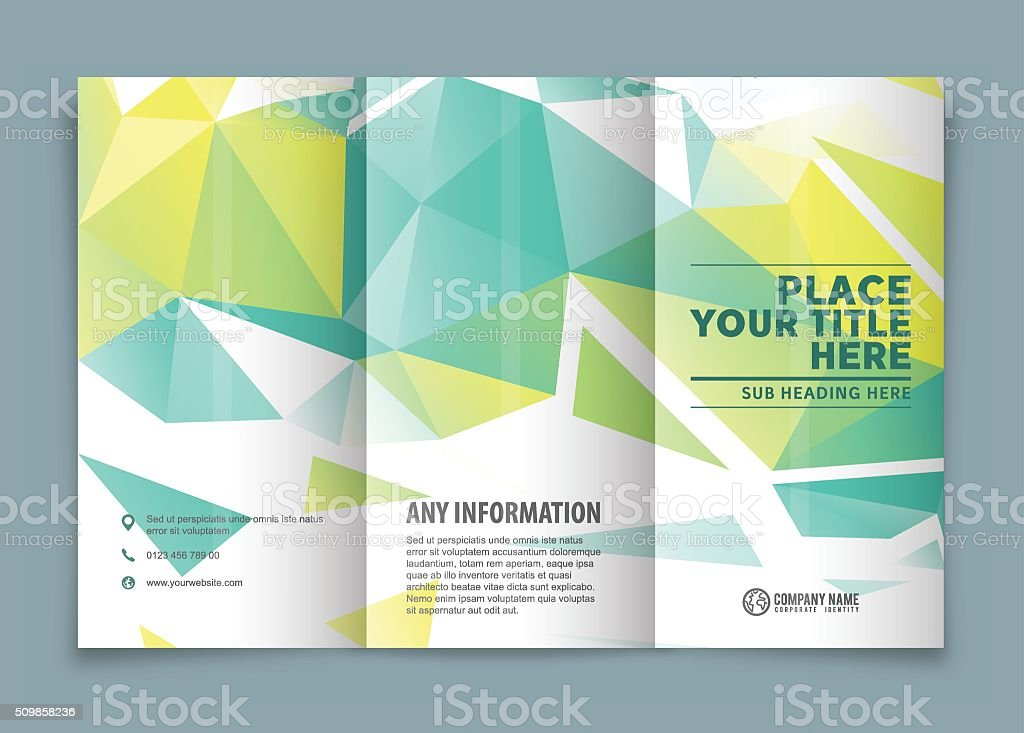 Tri-fold brochure design . vector art illustration