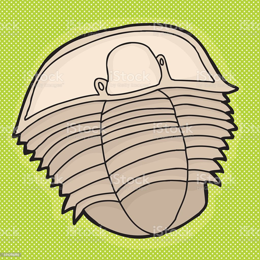 Trilobyte Over Green vector art illustration