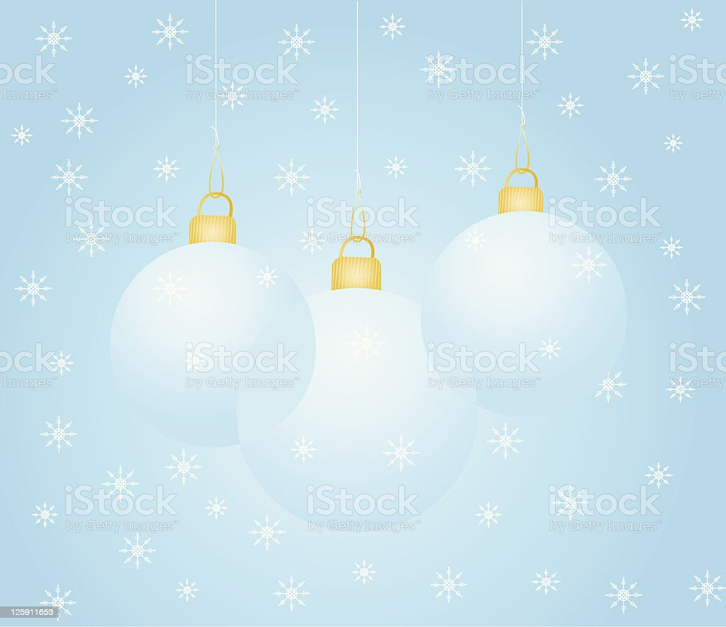 Trio of Christmas Ornaments royalty-free stock vector art