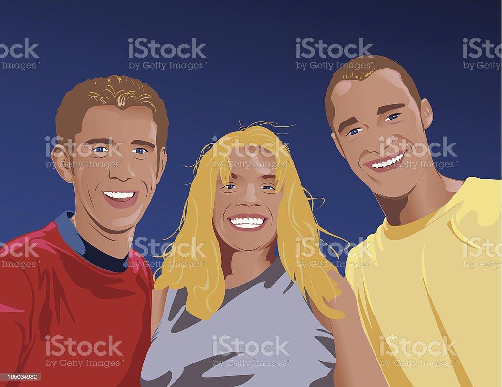 Trio royalty-free stock vector art