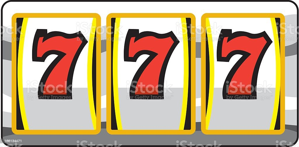 Triple 7s royalty-free stock vector art