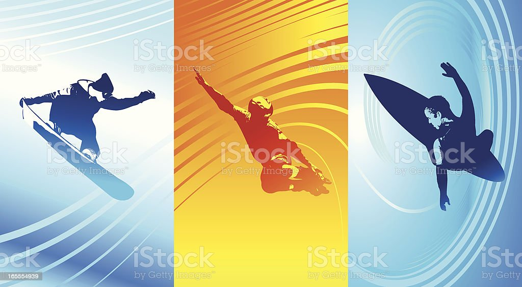 Triple Xtreme royalty-free stock vector art