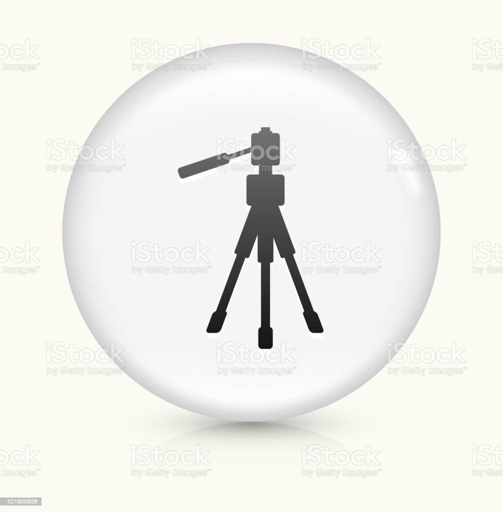 Tripod icon on white round vector button vector art illustration