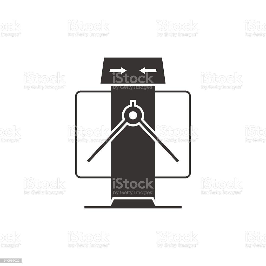 Tripod turnstile vector art illustration