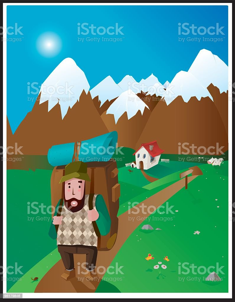 Tripper royalty-free stock vector art