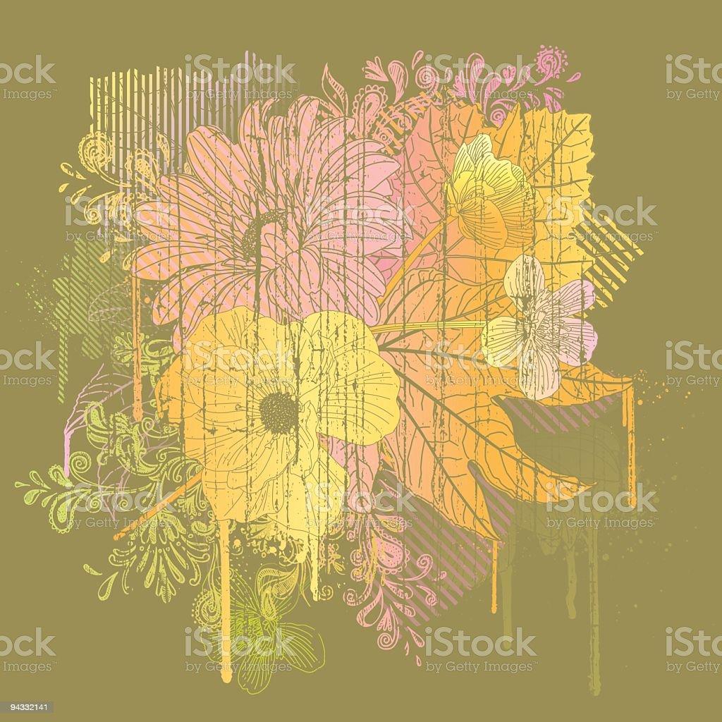 Trippy Hippy Drippy (Fall/Autumn) royalty-free stock vector art