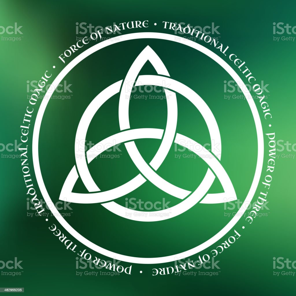 Triquetra symbol vector art illustration