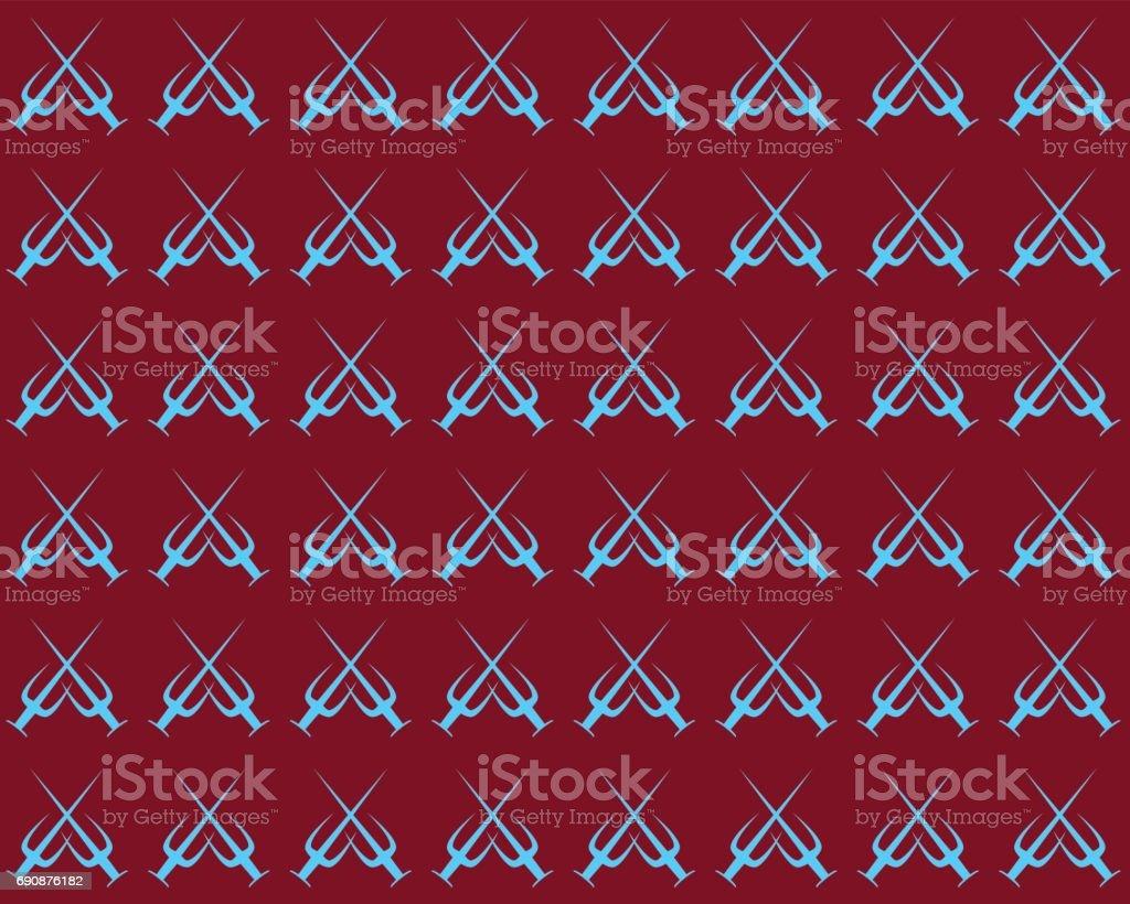trisula sword pattern vector art illustration
