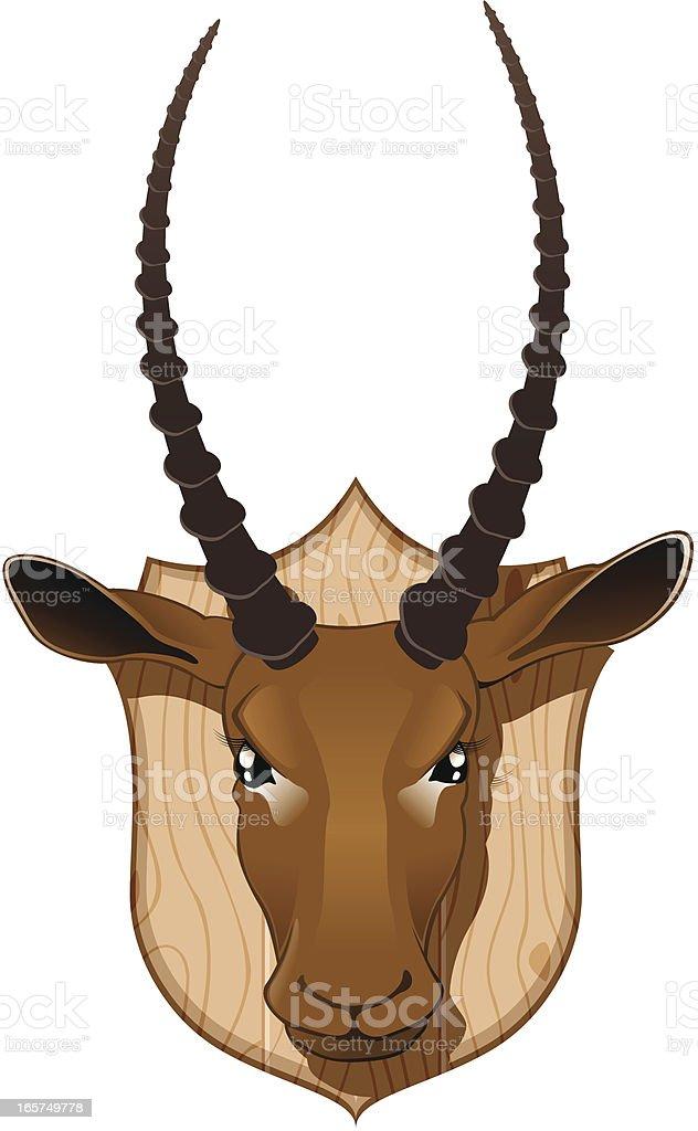 Trofe - Impala royalty-free stock vector art