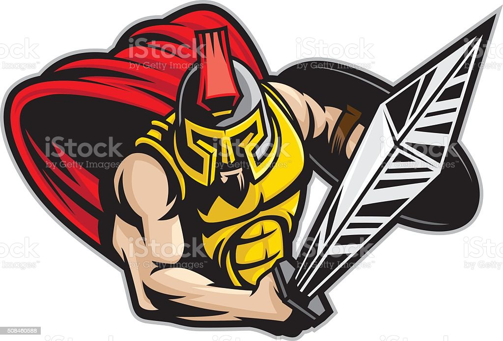 Trojan Charge vector art illustration