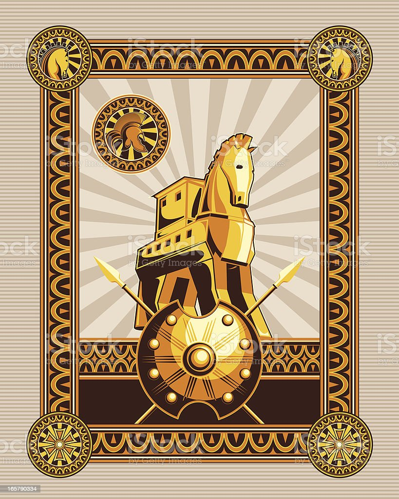 trojan horse royalty-free stock vector art