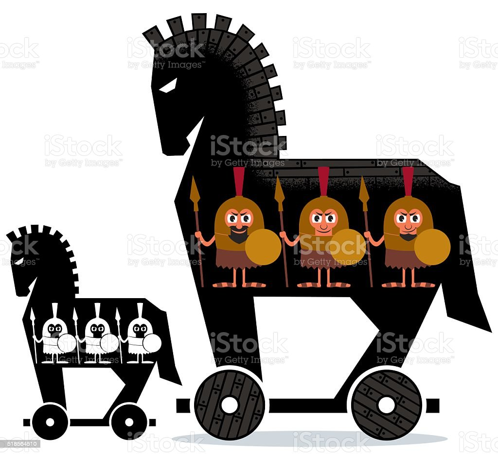 Trojan Horse vector art illustration
