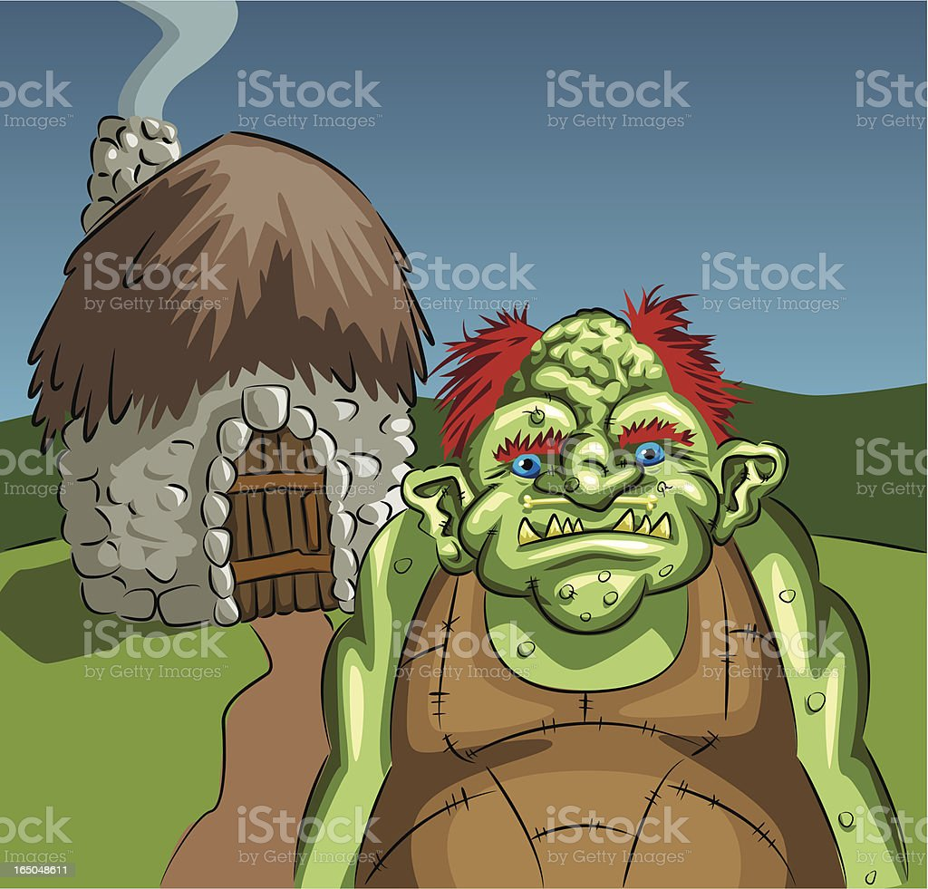 Troll at home vector royalty-free stock vector art