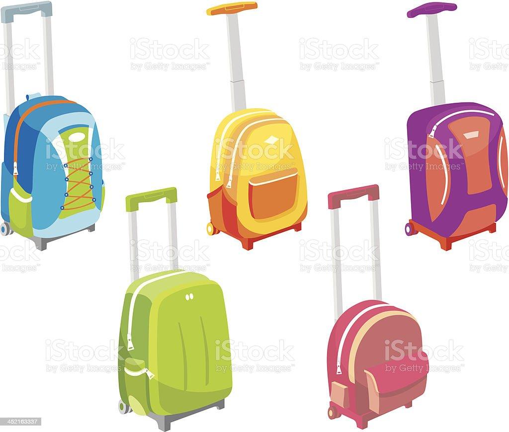 Trolley Bag Set royalty-free stock vector art