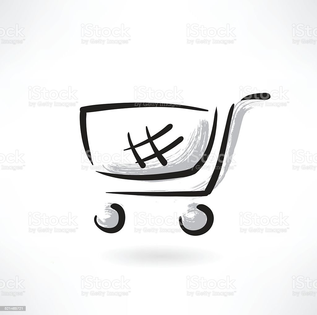 trolley grunge icon vector art illustration