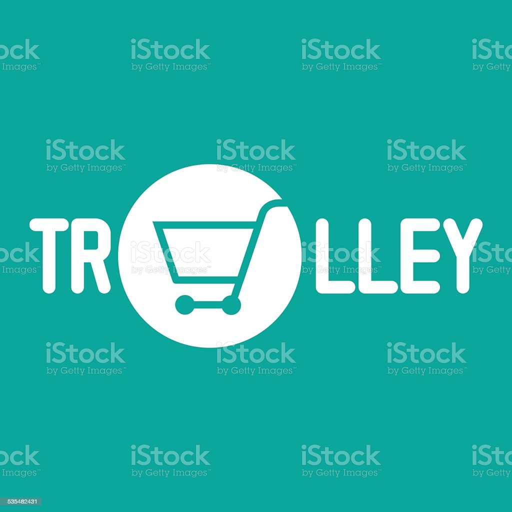 Trolley icon,Shopping cart sign vector art illustration