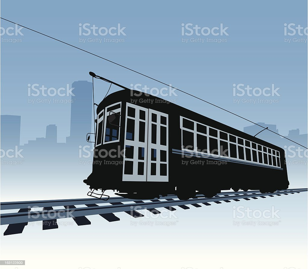 Trolly vector art illustration
