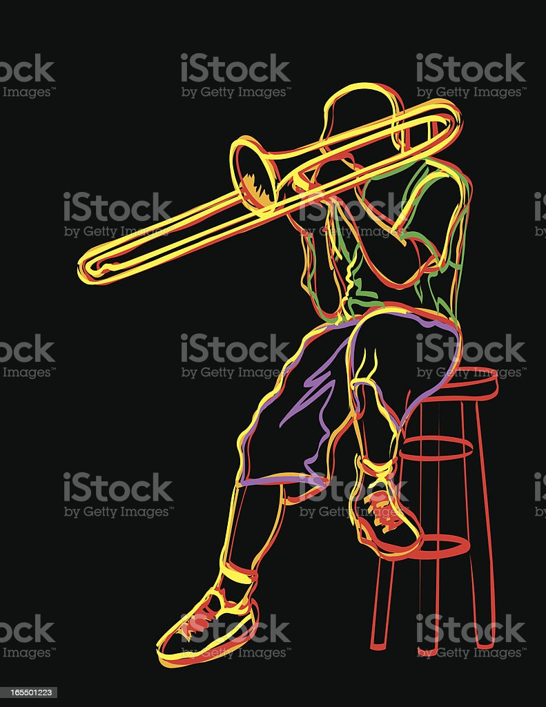 Trombone Player royalty-free stock vector art