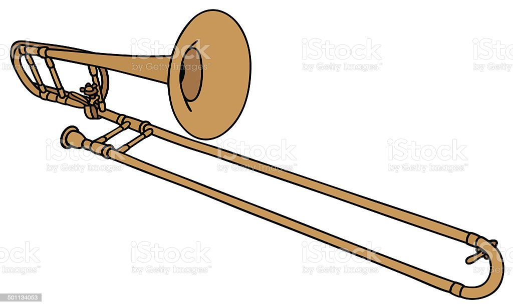 trombone royalty-free stock vector art