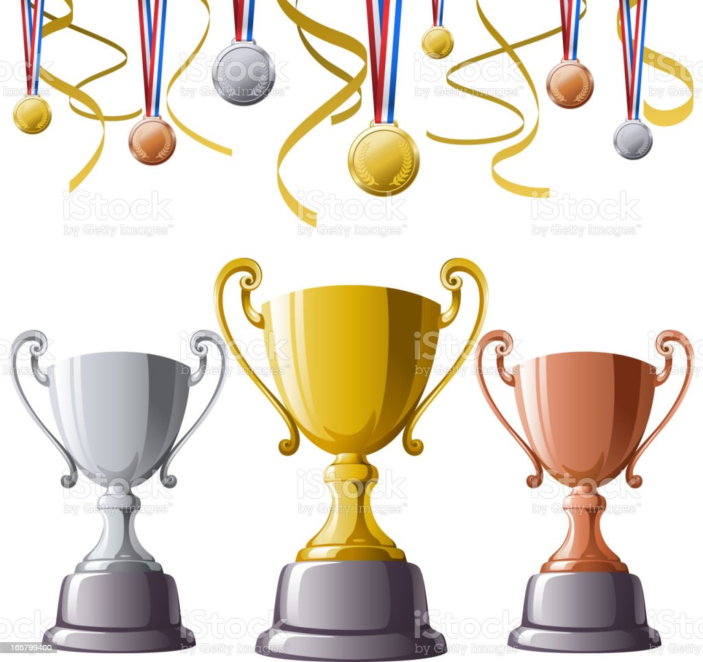 Trophies & Medals royalty-free stock vector art