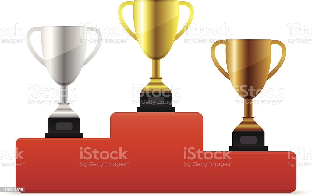 Trophies royalty-free stock vector art