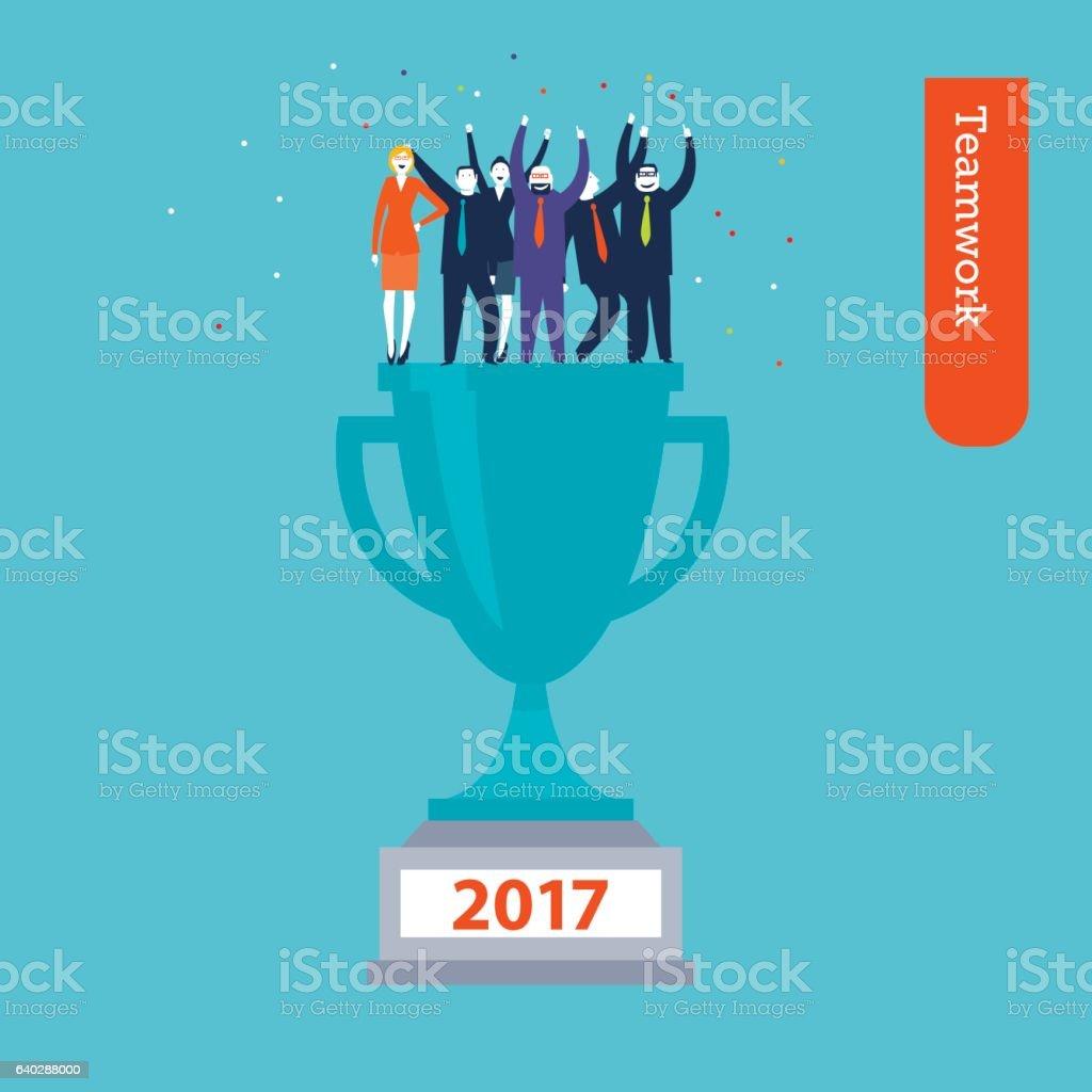 Trophy 2017 vector art illustration