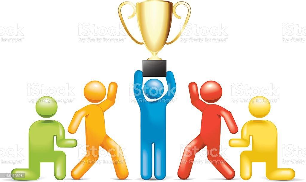 Trophy Achievement royalty-free stock vector art