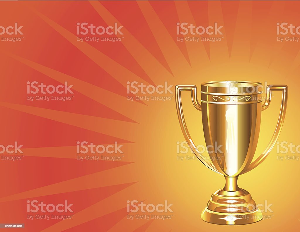 Trophy Award Gold royalty-free stock vector art