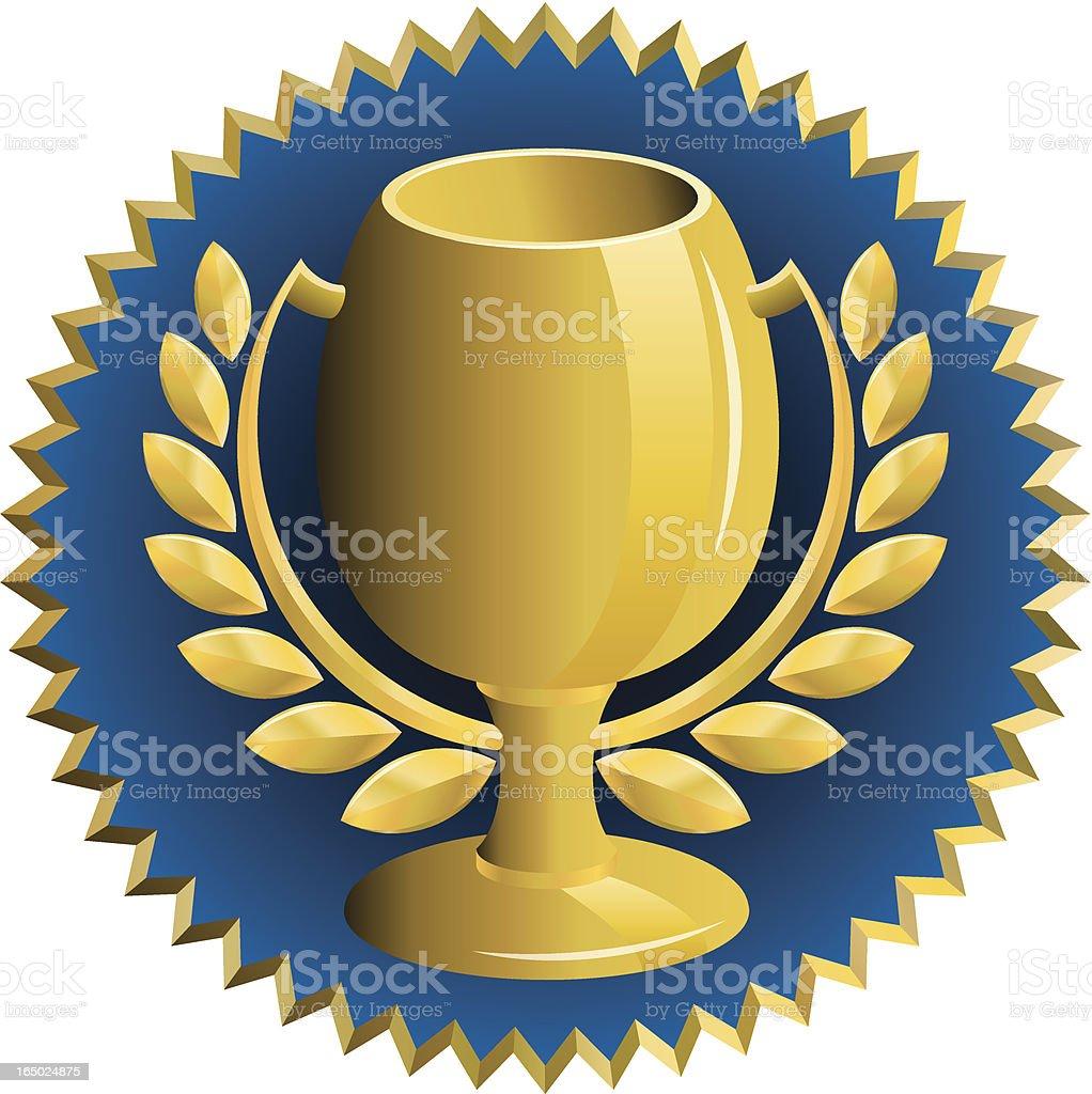trophy circle royalty-free stock vector art