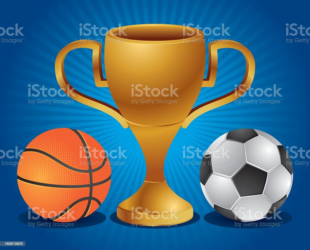 Trophy gold royalty-free stock vector art