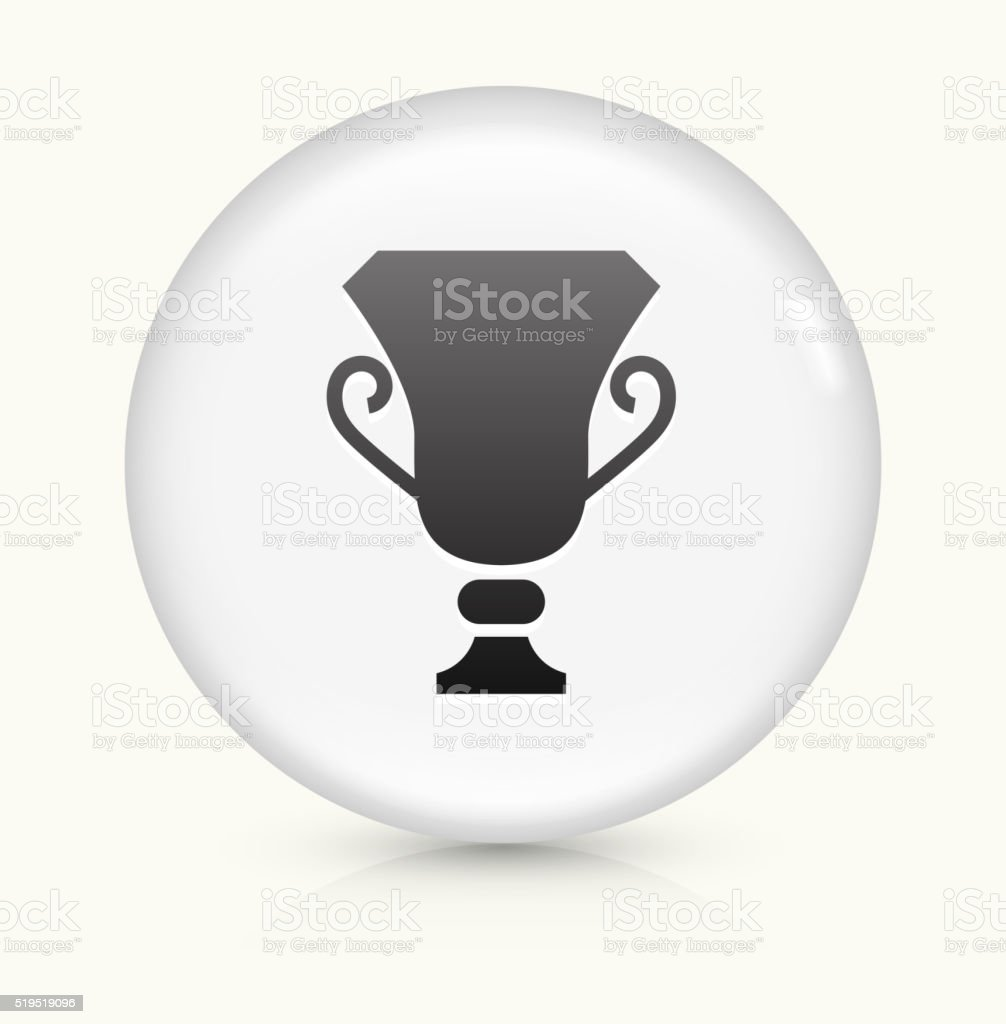 Trophy icon on white round vector button vector art illustration