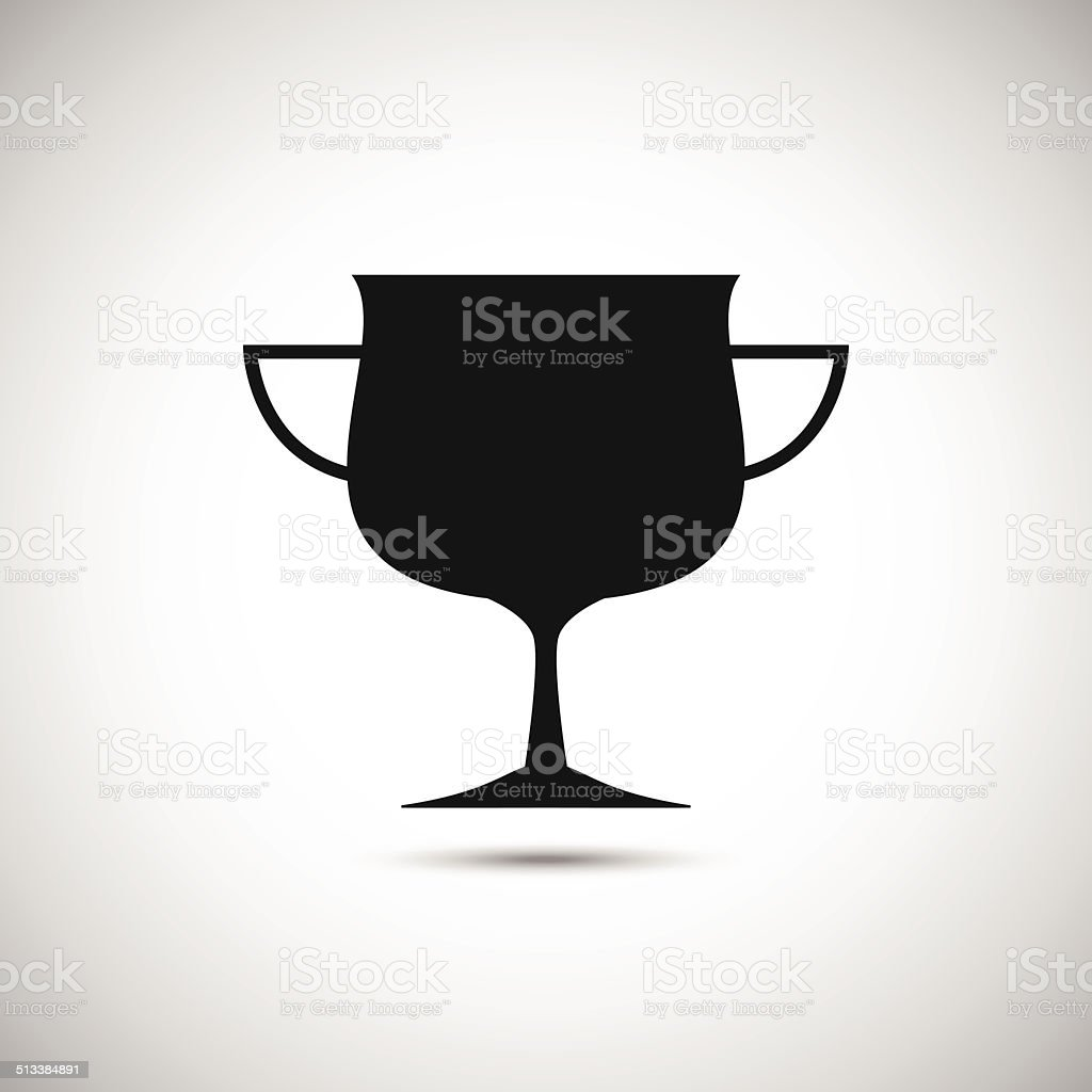 Icône de trophée stock vecteur libres de droits libre de droits