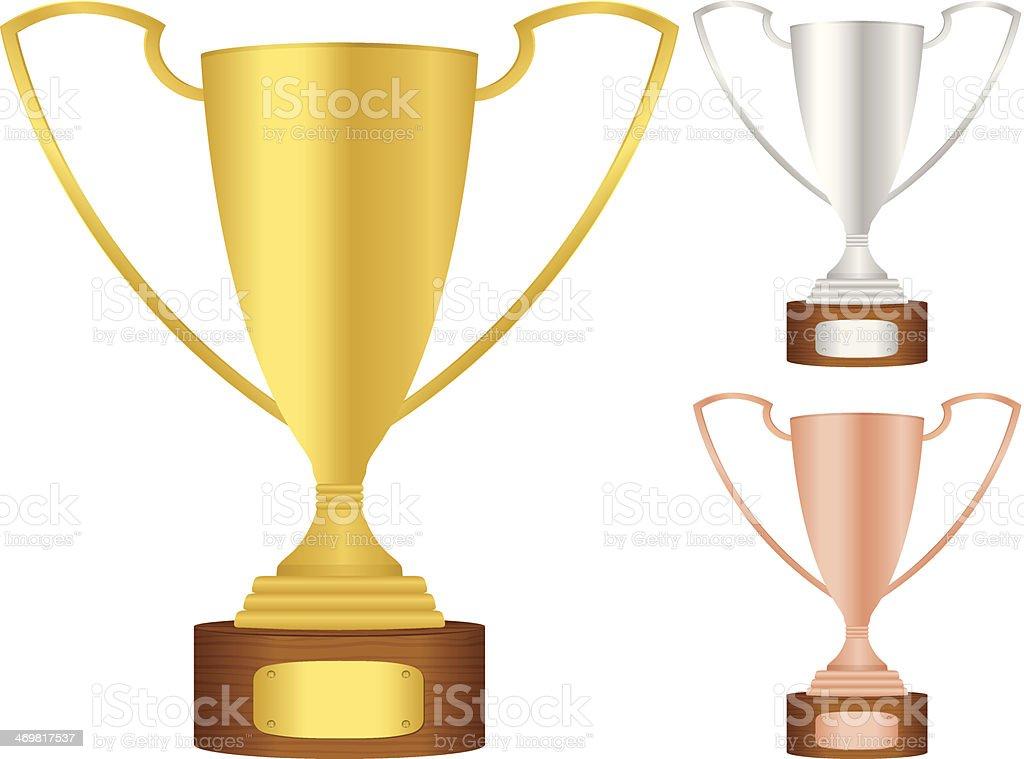 trophy set royalty-free stock vector art