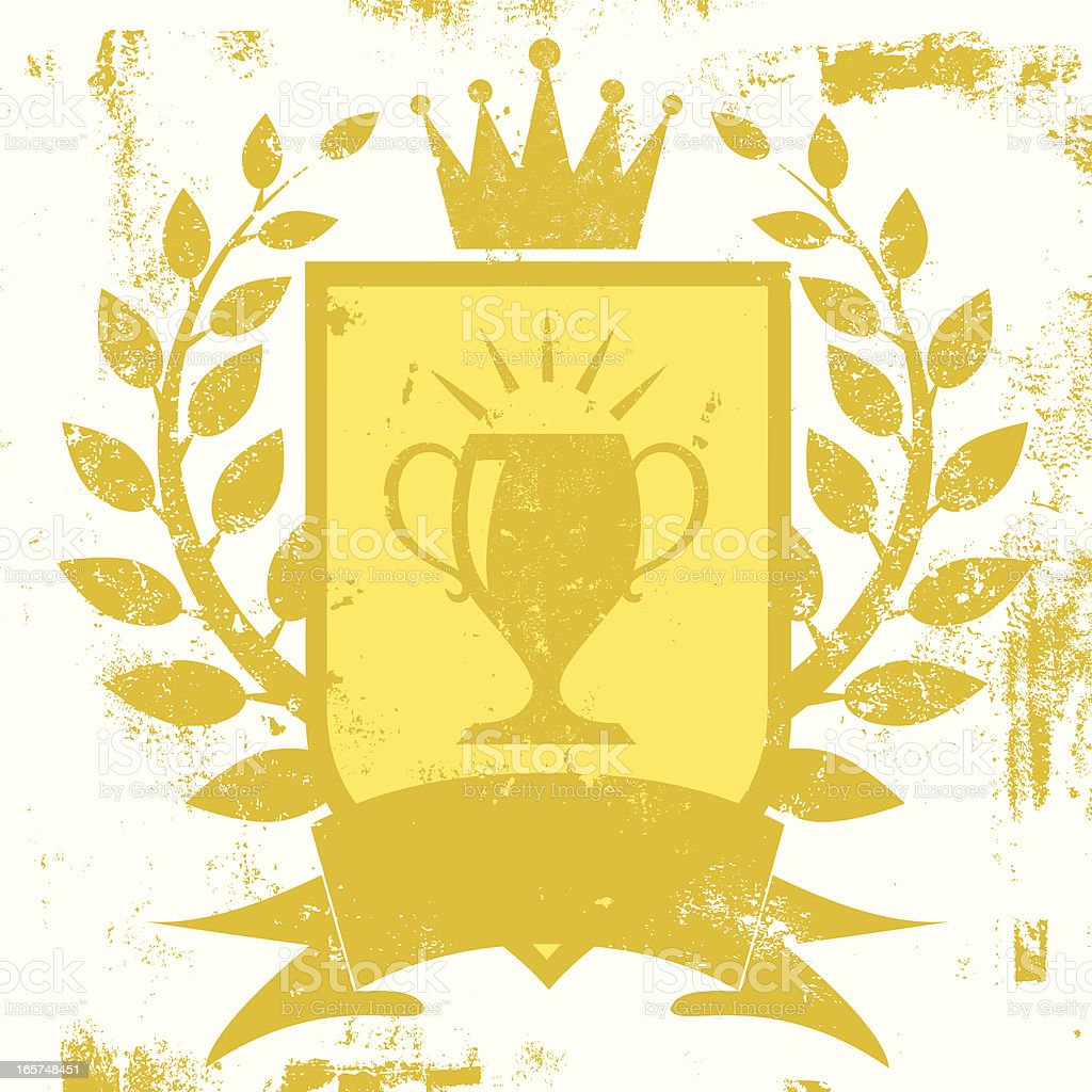 trophy shield insiginia royalty-free stock vector art