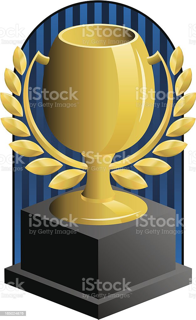 trophy royalty-free stock vector art