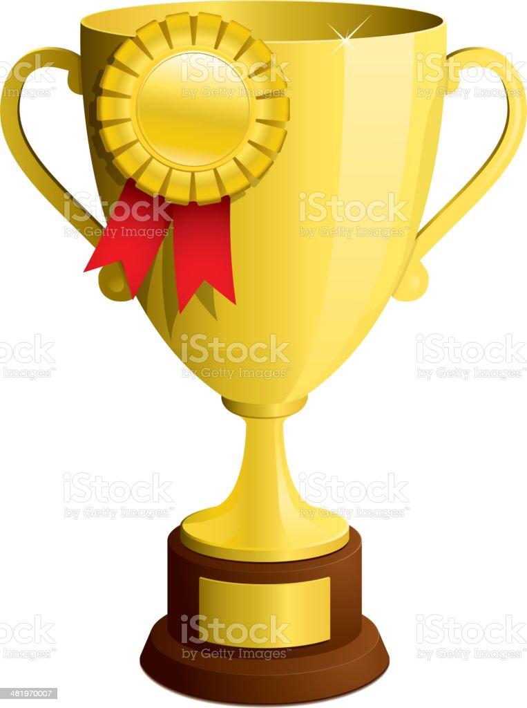 Trophy vector royalty-free stock vector art