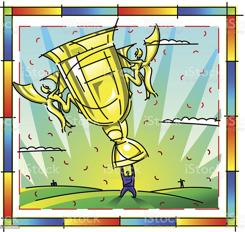 Trophy Winners royalty-free stock vector art