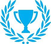 trophy with laurel wreath