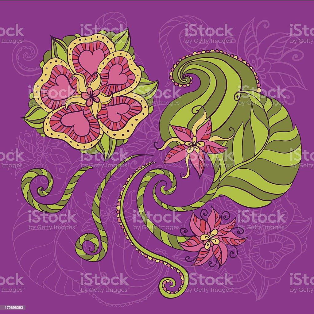 Tropic rose flower template royalty-free stock vector art