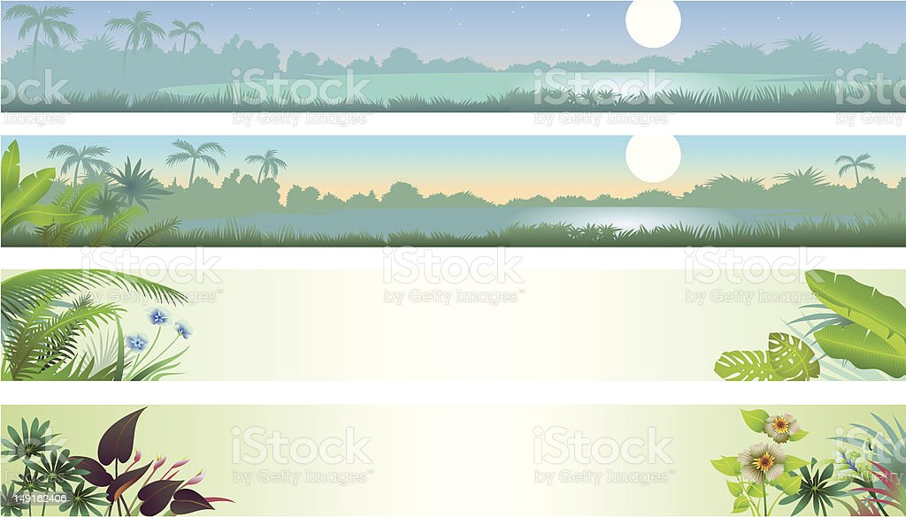 Tropical Banners royalty-free stock vector art