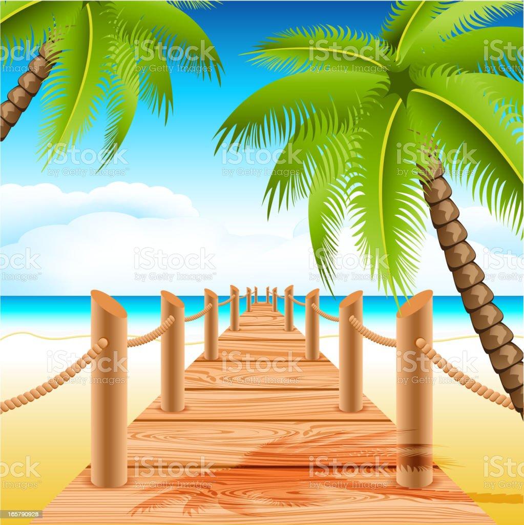 Tropical beach royalty-free stock vector art