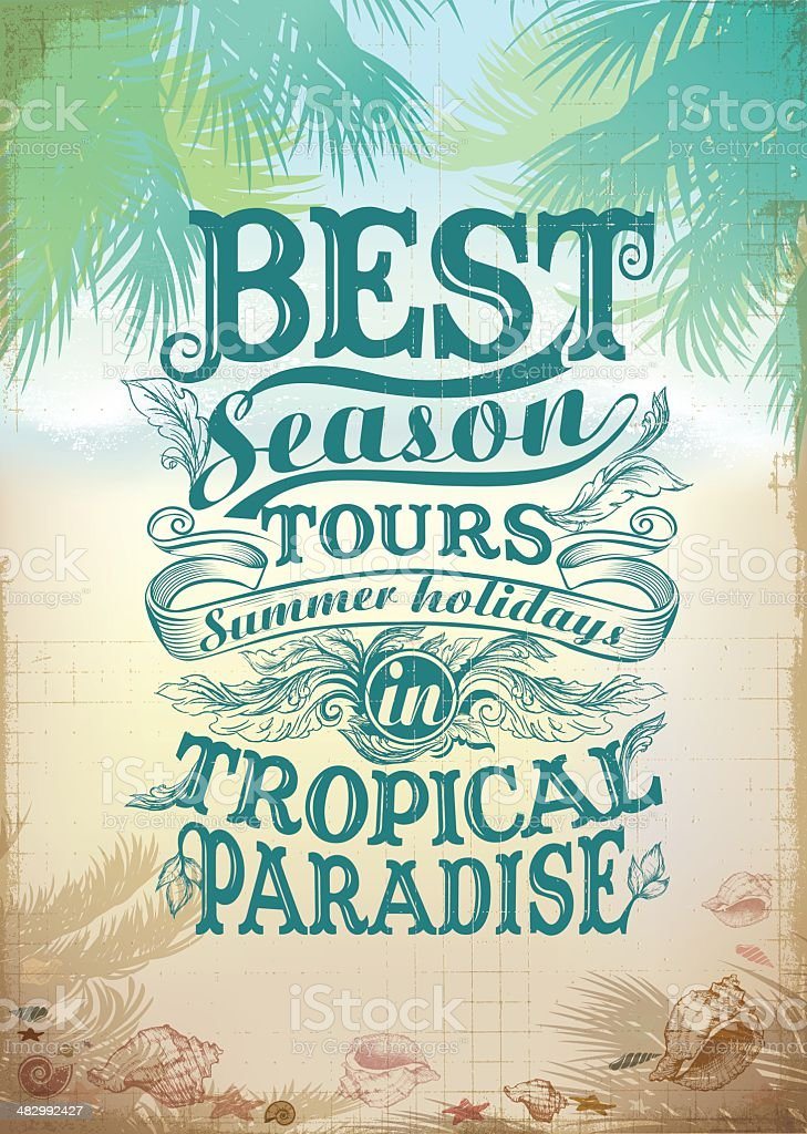 Tropical card with Text element royalty-free stock vector art