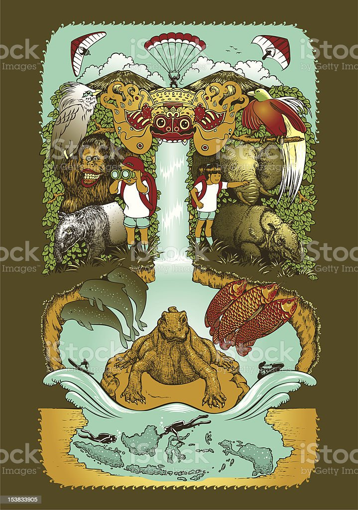 Tropical Charm vector art illustration