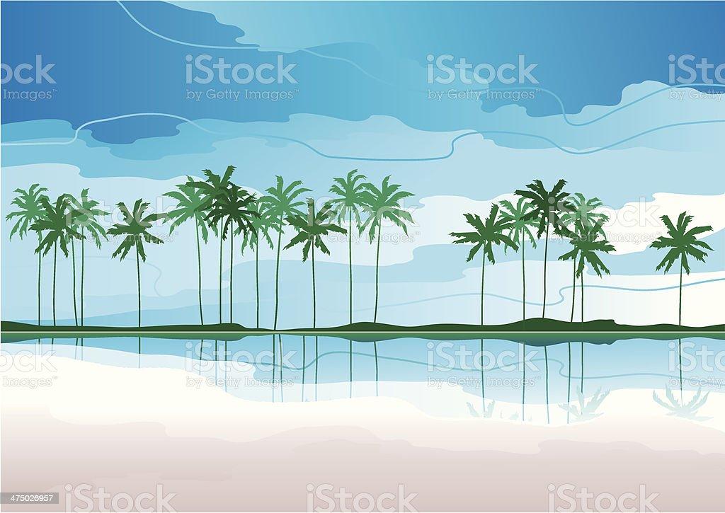 tropical coast royalty-free stock vector art
