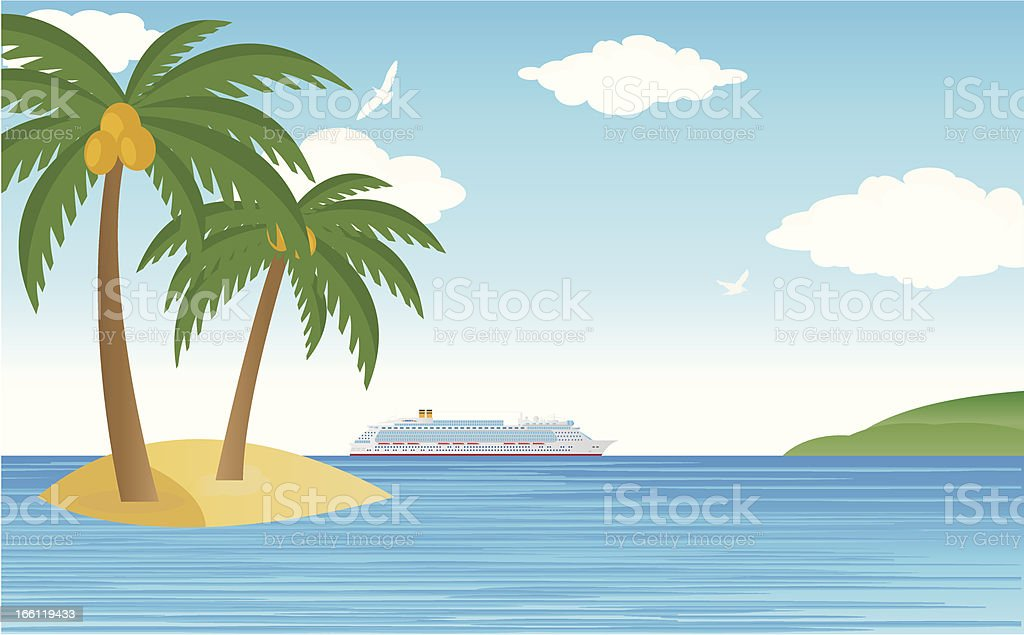 Tropical cruise royalty-free stock vector art