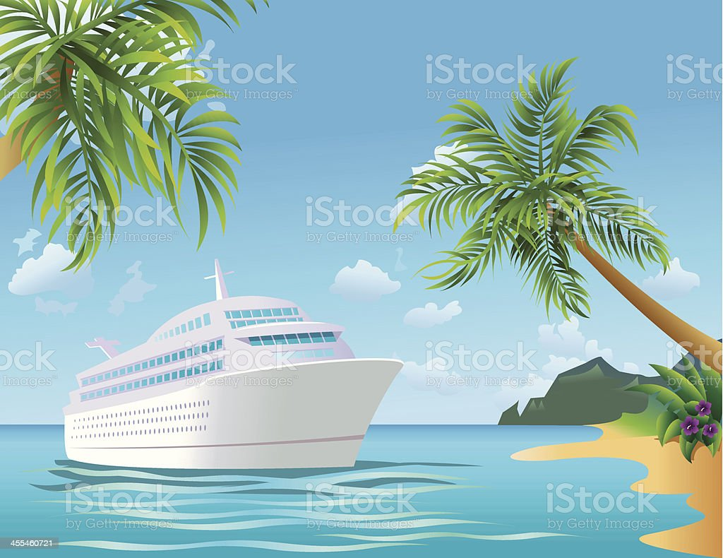 Tropical Cruise vector art illustration