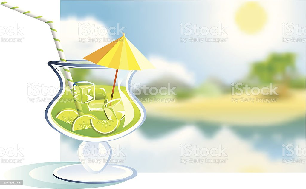 Tropical drink- lime royalty-free stock vector art